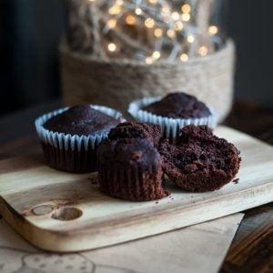 Muffin double chocolat sans gluten - La Pause Magique