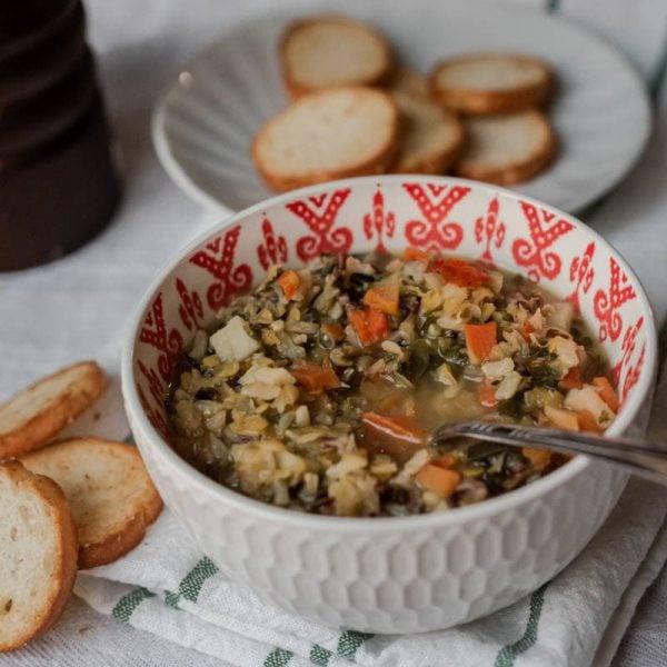Soupe Riz sauvages et lentilles - La Pause Magique