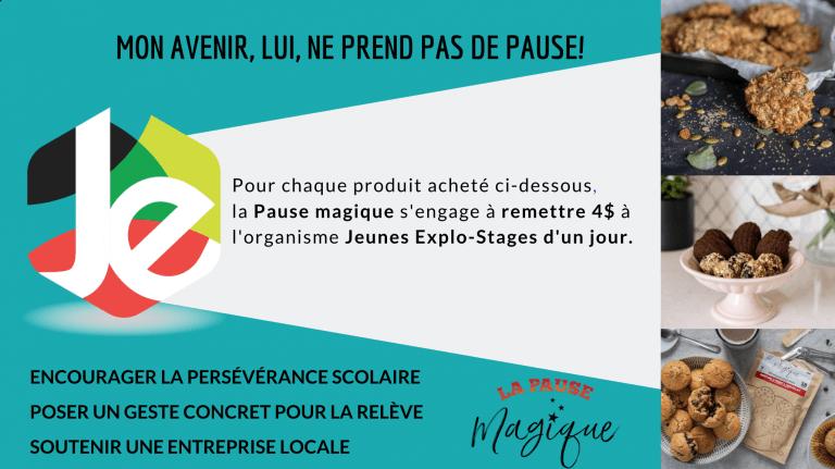 Bandeau publicitaire - JeunesExplo x La Pause Magique